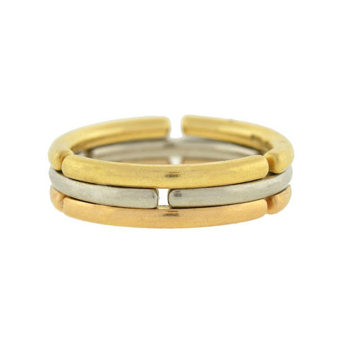 BVLGARI Estate 18kt Collapsible 3-Tone Ring