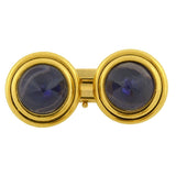 BVLGARI Retro 18kt Gold Iolite Conical Cabochon Cufflinks