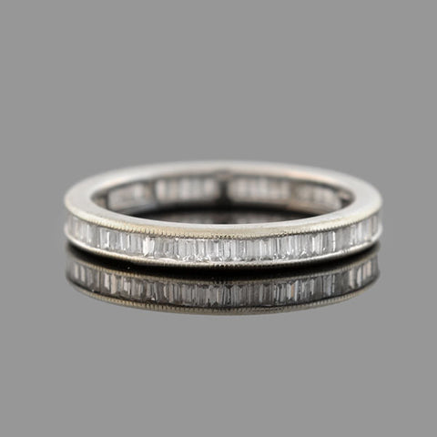 Estate 18kt Baguette Diamond Eternity Band 1.00ctw