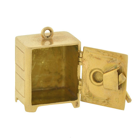 Vintage 14kt Moveable Safe Box Charm