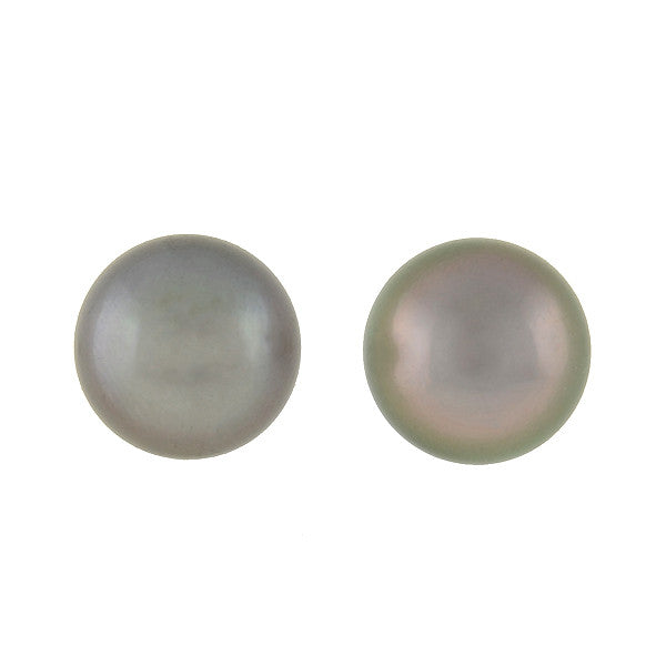 Estate 14kt Black Tahitian 12mm South Sea Pearl Studs