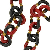 ARCHIMEDE SEGUSO Vintage Hand Blown Glass Link Necklace