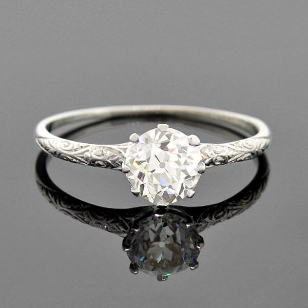BLACK, STARR & FROST Edwardian Platinum Diamond Engagement Ring 0.67ct