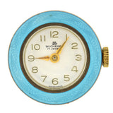 Retro Sterling & Bright Blue Guilloché Enamel Watch Fob