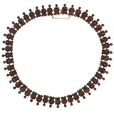 Victorian Sterling Bohemian Garnet Collar Necklace