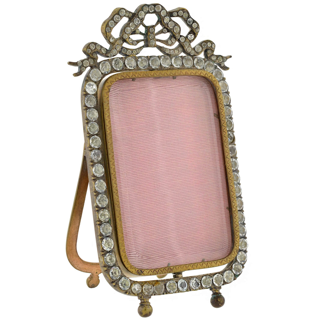 Victorian Brass French Paste Swivel Picture Frame + Mirror