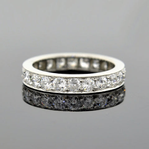 Art Deco Platinum Diamond Eternity Band 2.50ctw