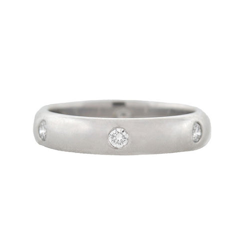 "CARTIER 18kt Estate 6 Diamond Band ""Stella"" Ring"