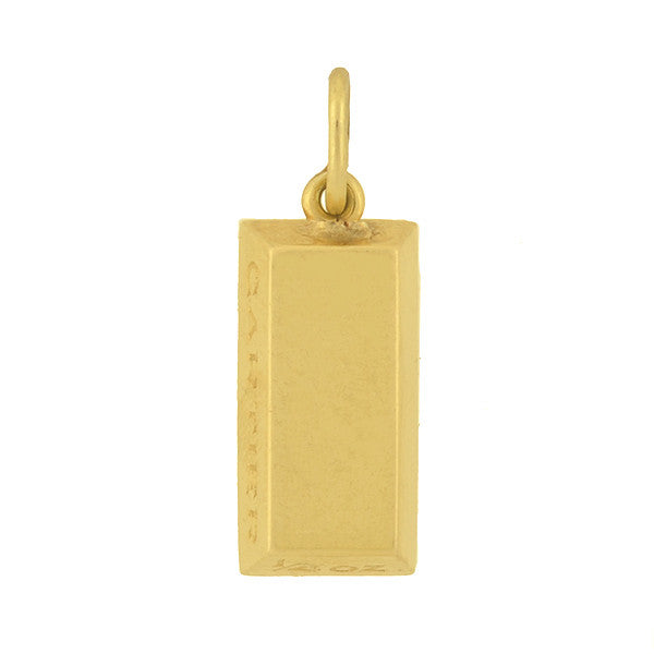 CARTIER Estate 18kt Gold Bar Ingot Charm