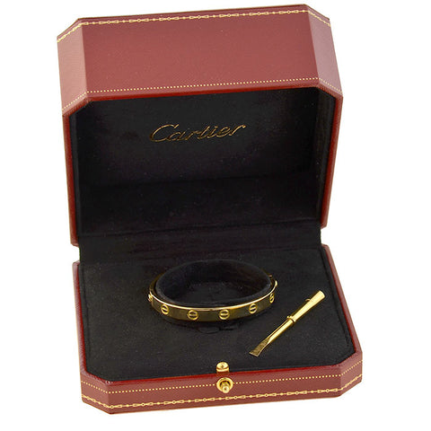 CARTIER Estate 18kt Yellow Gold LOVE Bangle Bracelet