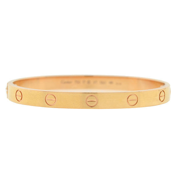 CARTIER Estate 18kt Rose Gold LOVE Bracelet