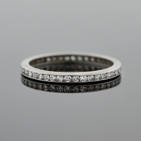 TIFFANY & CO. Estate 18kt & Platinum Diamond Etoile Band