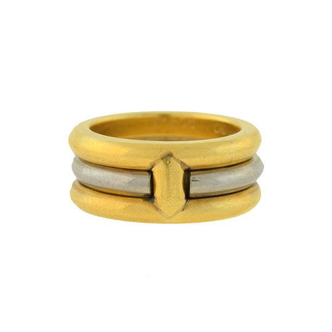 CARTIER Vintage 18kt Mixed Metals Multi-Band Ring with Removable Center