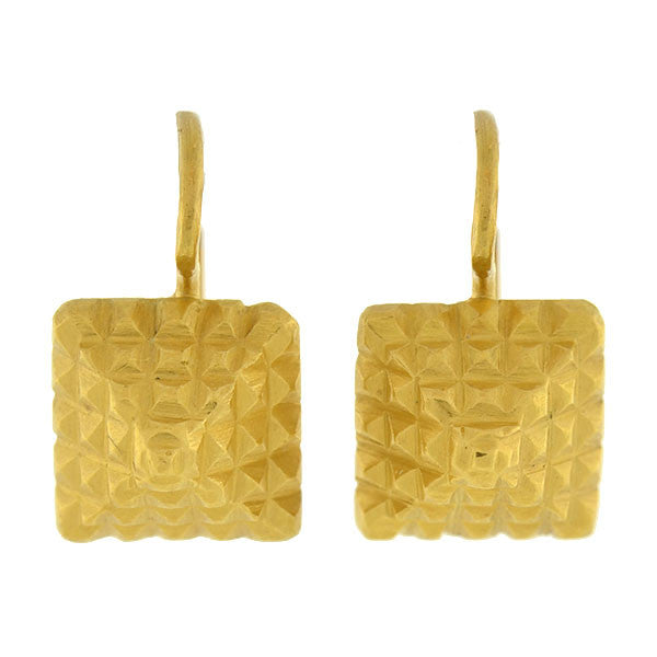 CATHY WATERMAN 22kt Gold Pyramidal Earrings