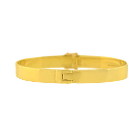 ALDO CIPULLO 18kt Gold 'C' Hinged Bangle Bracelet