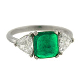 Estate Platinum Muzo Emerald Diamond Ring 1.60ct