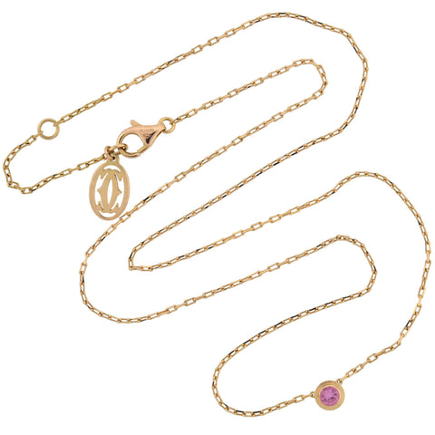"CARTIER 18kt Pink Sapphire ""Saphirs Légers de Cartier"" Earring + Necklace Set"