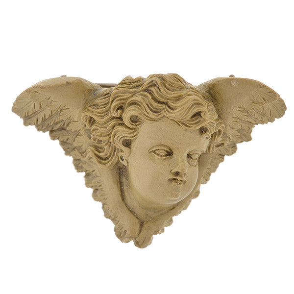 Victorian Hand Carved Lava Angel Pin