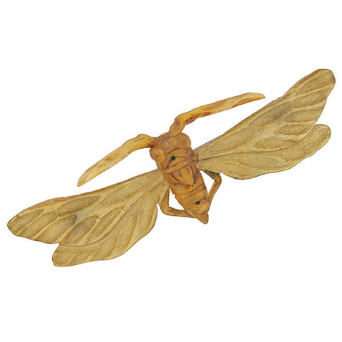 Art Nouveau French Carved Horn Winged Insect Pin