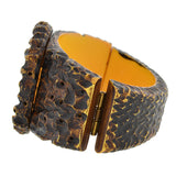 Retro Heavy Carved Bird Motif Bakelite Bracelet