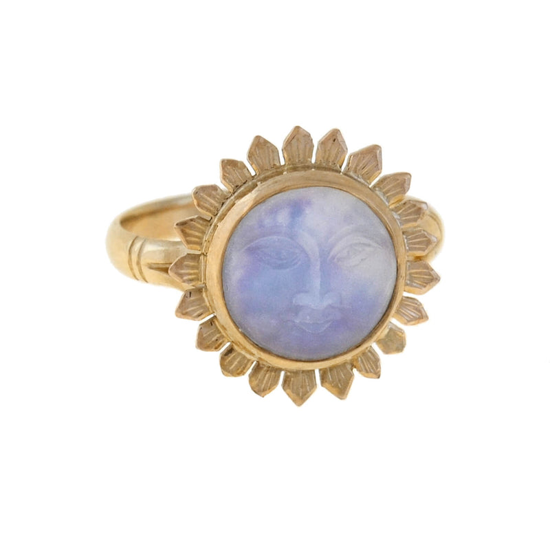 Retro 14kt Aquamarine & Diamond Cocktail Ring 16ct+