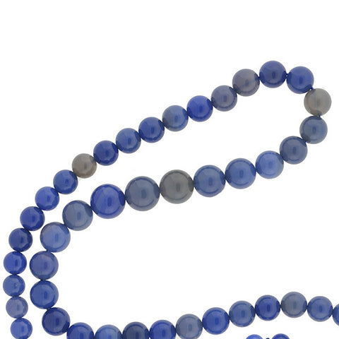 Estate Chalcedony Bead Necklace 34""