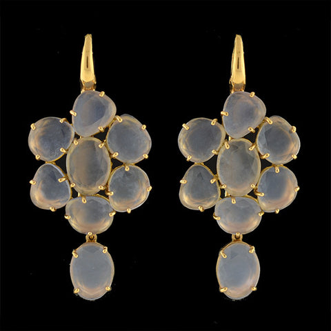 POMELLATO Estate Capri 18kt Chalcedony Cluster Earrings