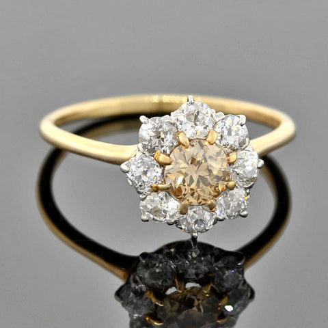 Art Deco 18kt Diamond Engagement Ring 0.30ctw