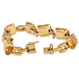 Retro 14kt Yellow Gold Citrine Link Bracelet