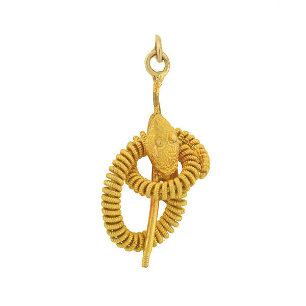 Victorian 14kt Coiled Snake Charm