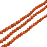 Victorian 9kt Salmon Coral 3-Strand Bead Necklace