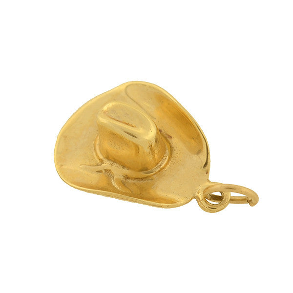 Vintage 14kt Western Style Cowboy Hat Charm