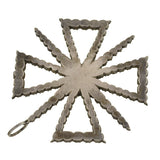 Victorian Large Sterling & French Paste Maltese Cross Pendant