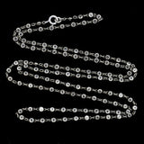 Art Deco Platinon & Crystal Chain Necklace 32.5