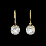 Victorian 14kt French Paste Dangle Earrings