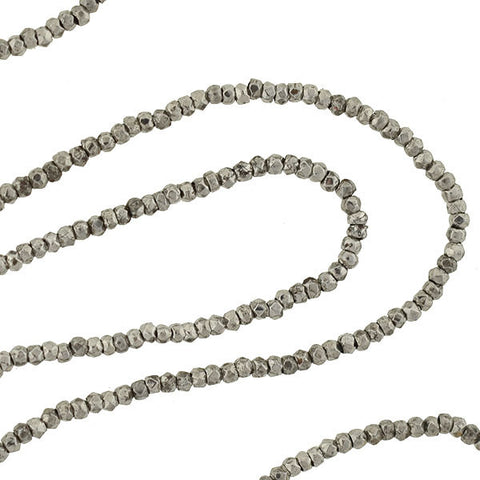 Victorian Cut Steel Beaded Necklace with 9kt Clasp