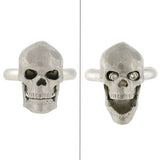 DEAKIN & FRANCIS Estate Platinum Diamond Moveable Skull Ring