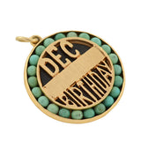 LUCIEN PICCARD Retro 14kt Turquoise