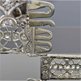 French Edwardian Platinum Diamond Filigree Line Bracelet 5.50ctw