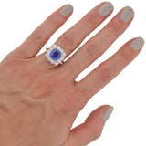 Art Deco Platinum Sapphire & Diamond Ring