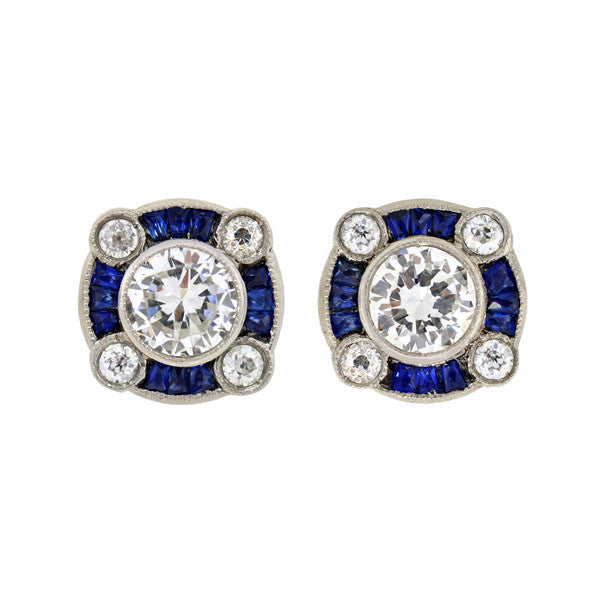 stud diamond ru art earrings at deco