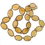 Art Deco 14kt Citrine Link Necklace 16.5