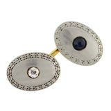 Edwardian Mixed Metals Sapphire & Diamond Cufflinks