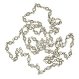 Edwardian Platinum Diamond 3ctw Chain Necklace 17.5