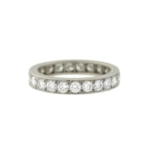 Edwardian Platinum Diamond Eternity Band 2.50ctw