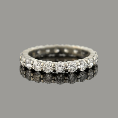 Retro Platinum Diamond Eternity Band 1.75ctw