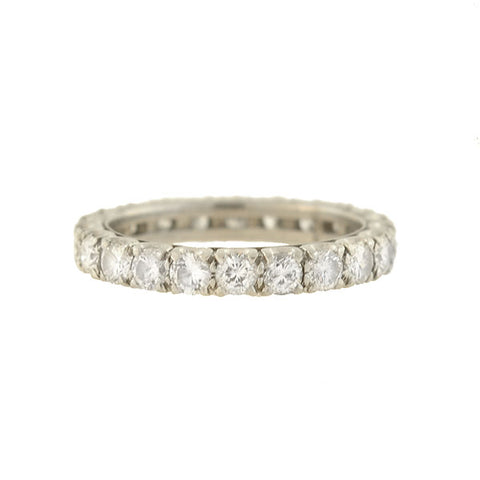 Retro Platinum Diamond Eternity Band 1.30ctw