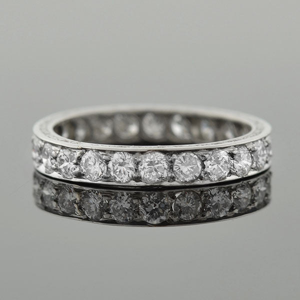 Art Deco Platinum Diamond Eternity Band 1.50 ctw