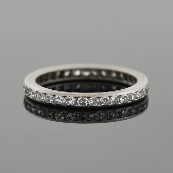 Art Deco Platinum Diamond Eternity Band .50ctw