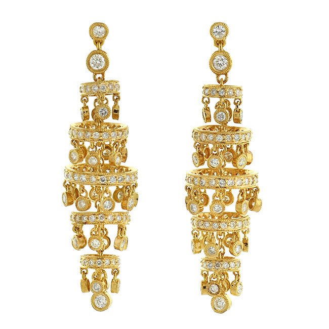 Estate 18kt Diamond Chandelier Earrings